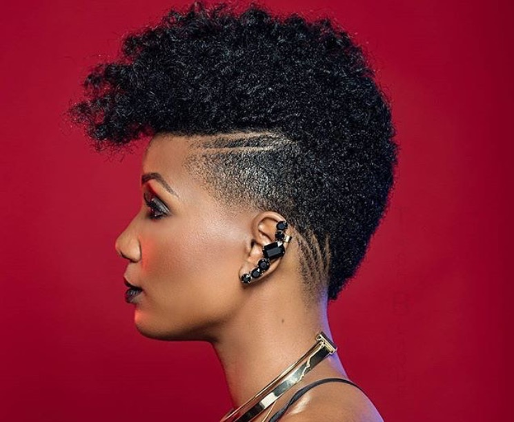 black female fade styles