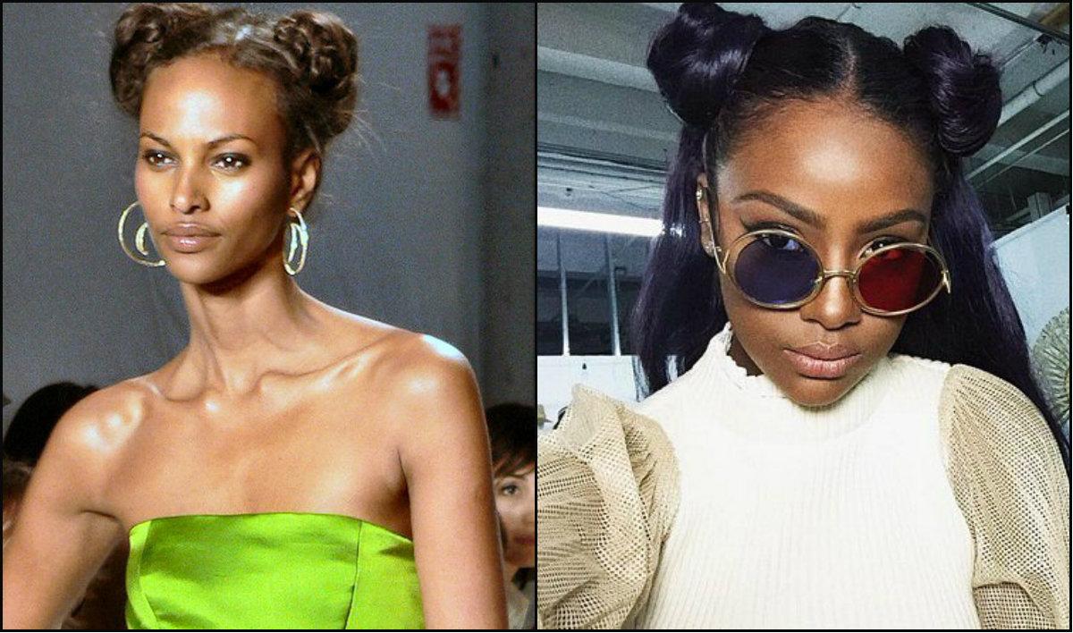 black-women-double-bun-hairstyles-2017