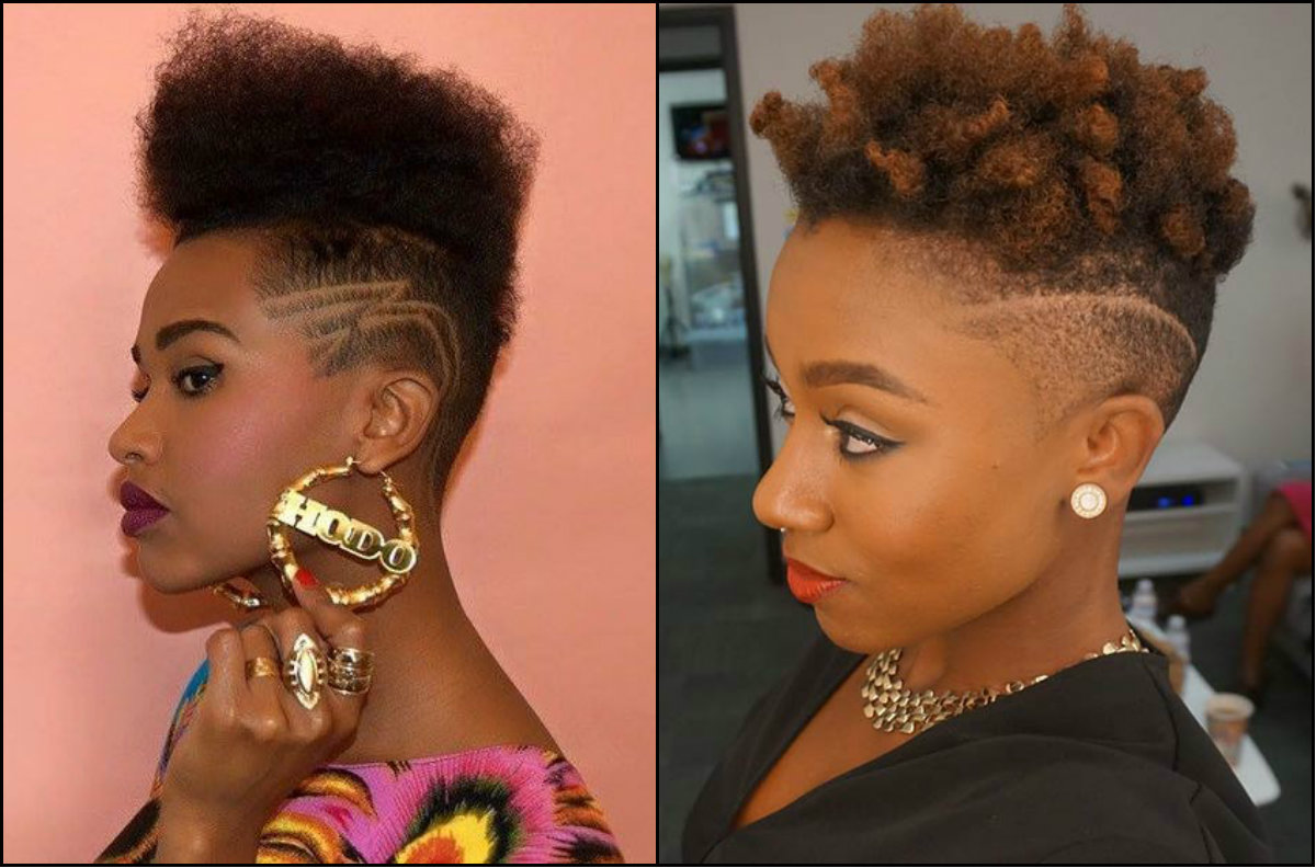 cool fade haircuts with patterned sides