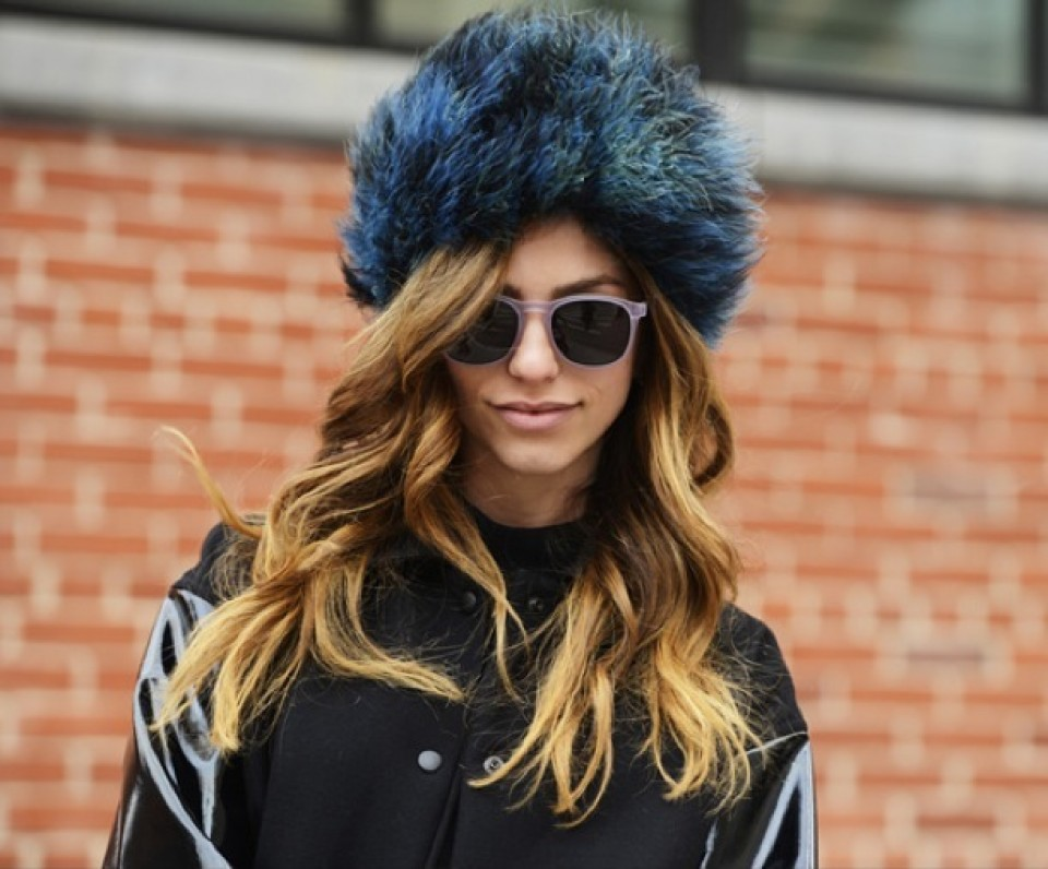 fur hats for long wavy hair