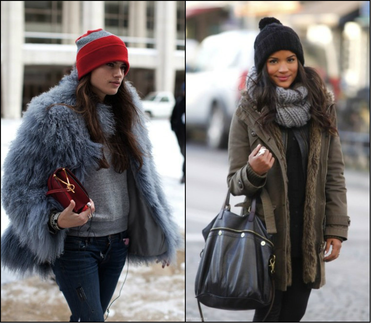 knitted winter hats for straight long hairstyles 2017