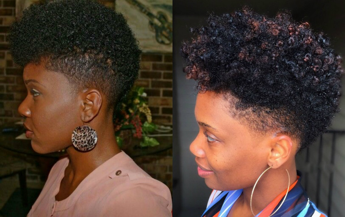 Natural Curly Fade Hairstyles For Black Women