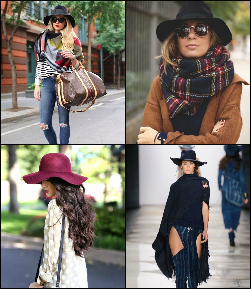 winter 2017 hairstyles with hats