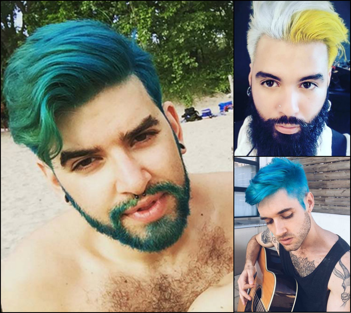 outrageous merman hair trends for men - popular hairstyle