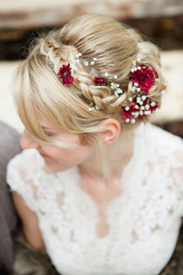 cute-side-braids-into-low-bun-for-wedding