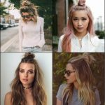 Flirty Half Top Knots Hairstyles 2017
