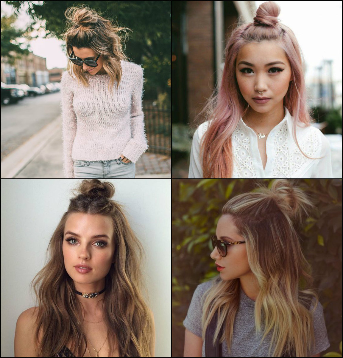 Flirty Half Top Knots Hairstyles 2017 | Pretty-Hairstyles.com