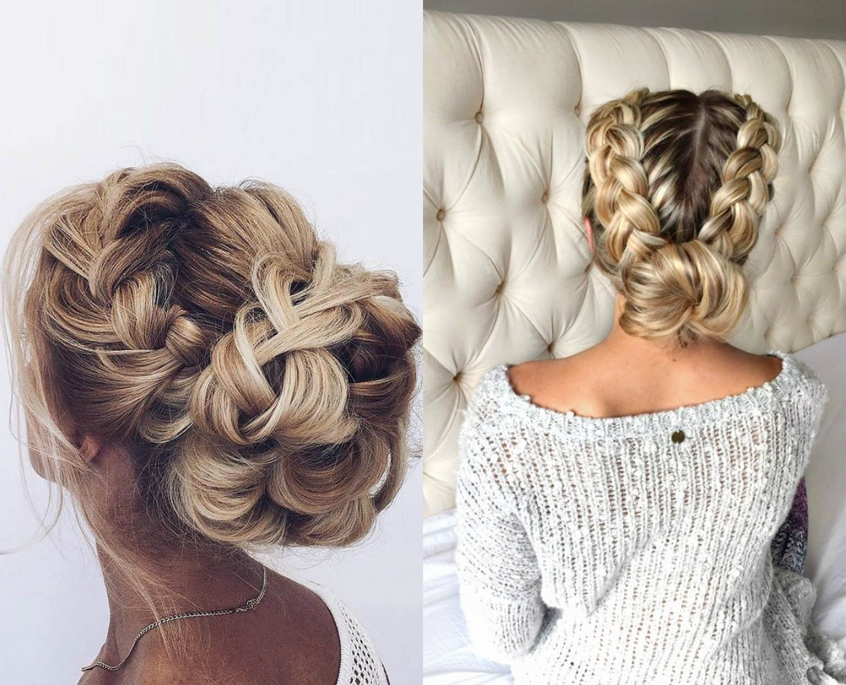 braided-bun-christmas-party-hairstyles-2017