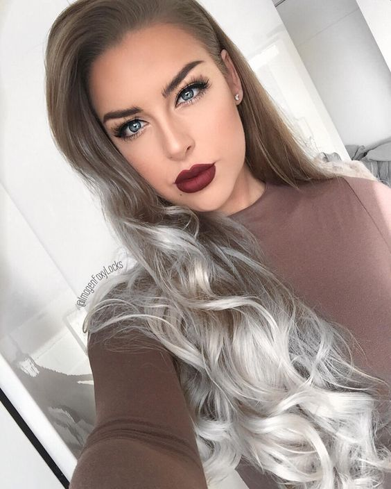 long-wavy-hairstyles-with-silver-ombre-highlights