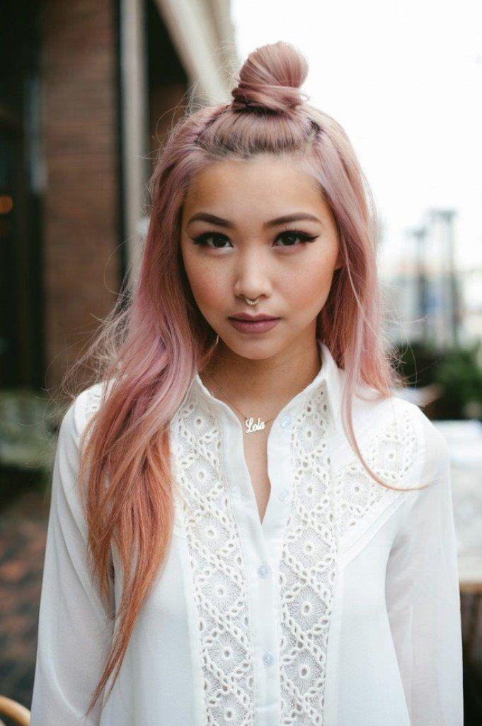pastel-pink-half-updos-2017