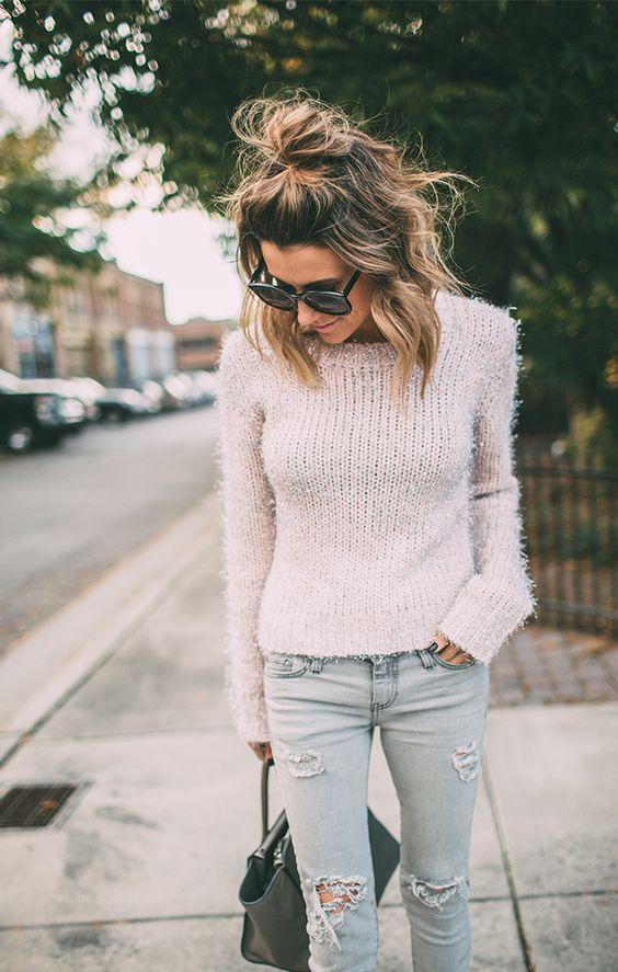 street-look-half-knots-hairstyles-2017