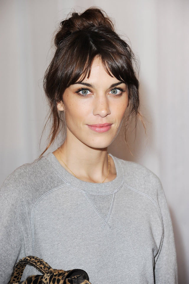 alexa-chung-messy-bun-valentines-day-hairstyles-2017