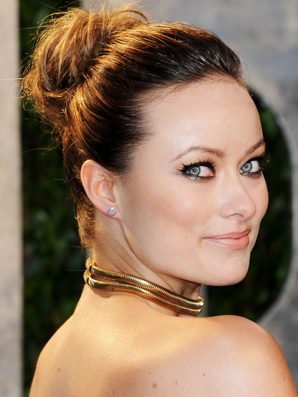 Olivia-Wilde-high-bunValentines-day-hairstyles-2017