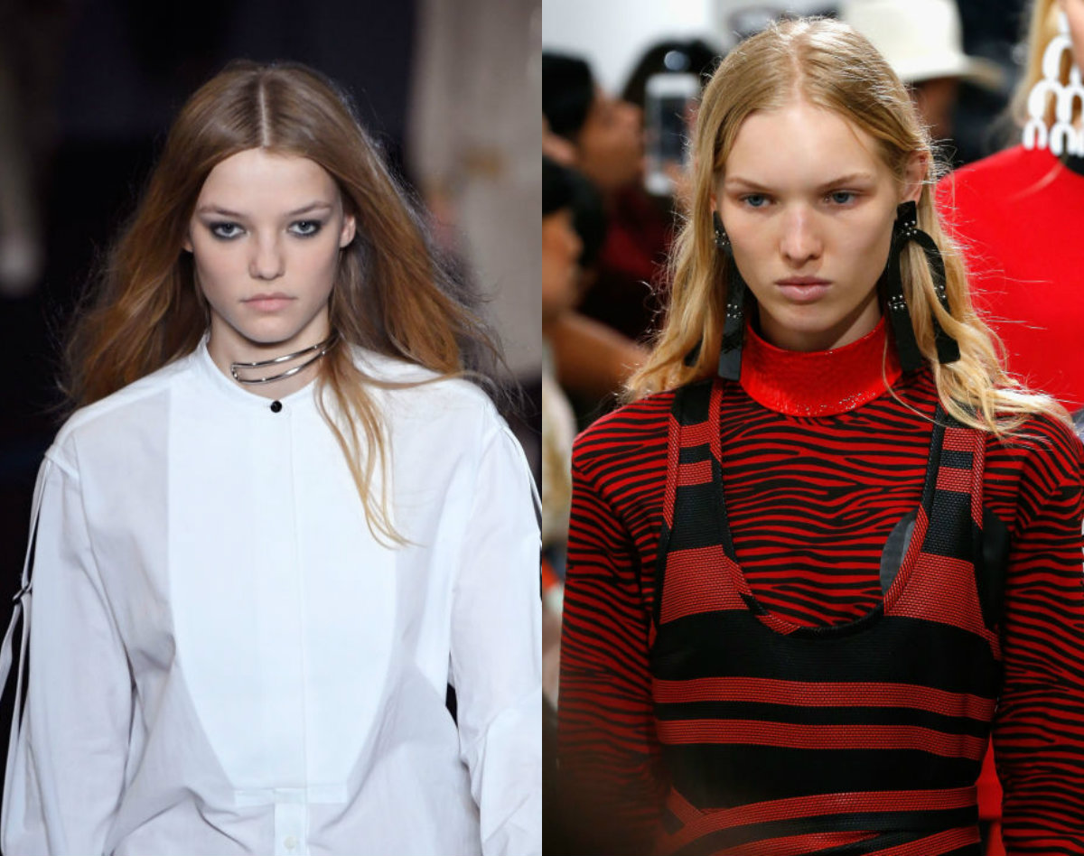 center-part-hairstyles-2017-spring