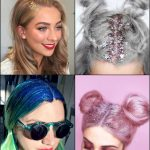 Check Out Party Glitter Roots Hair Trends 2017