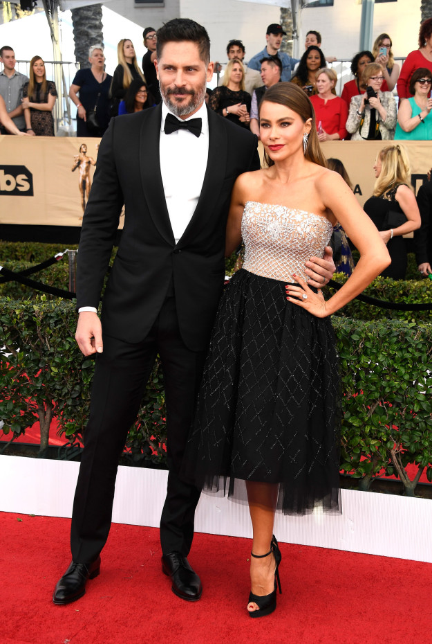 Joe Manganiello and Sofia Vergara hairstyles 2017 SAG Awards