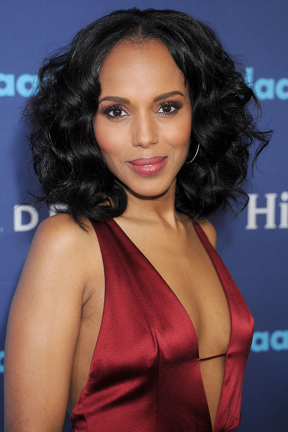 Kerry Washington curly bob hairstyles 2017 spring