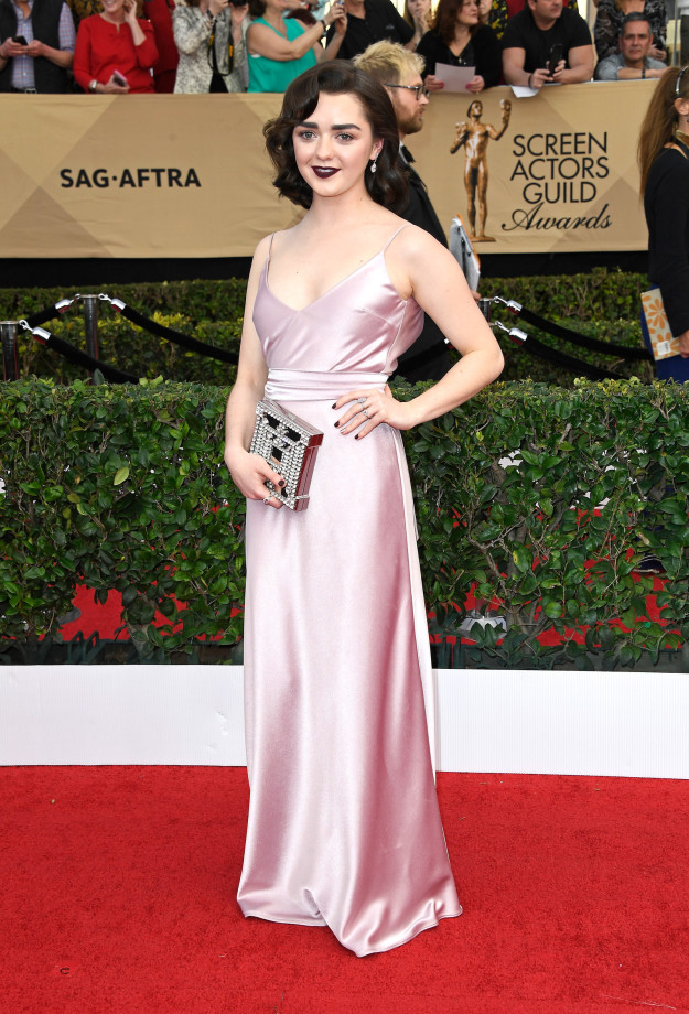 Maisie Williams hairstyles 2017 SAG Awards