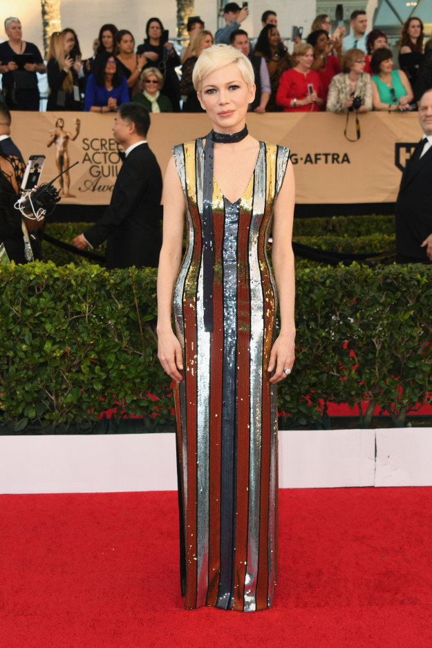 Michelle Williams hairstyles 2017 SAG Awards