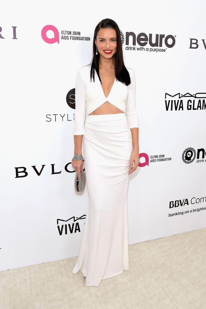 Adriana Lima hairstyles 2017 Oscars