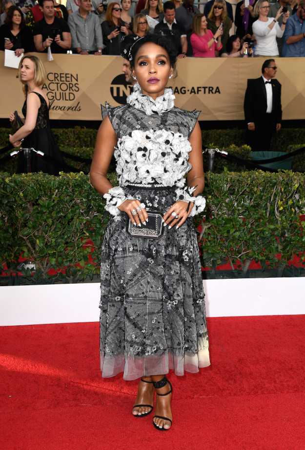 Janelle Monae hairstyles 2017 SAG Awards