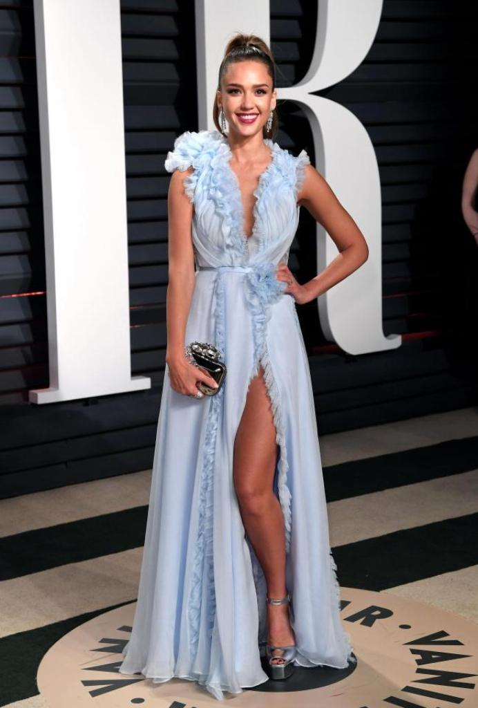 Jessica Alba hairstyles 2017 Oscars