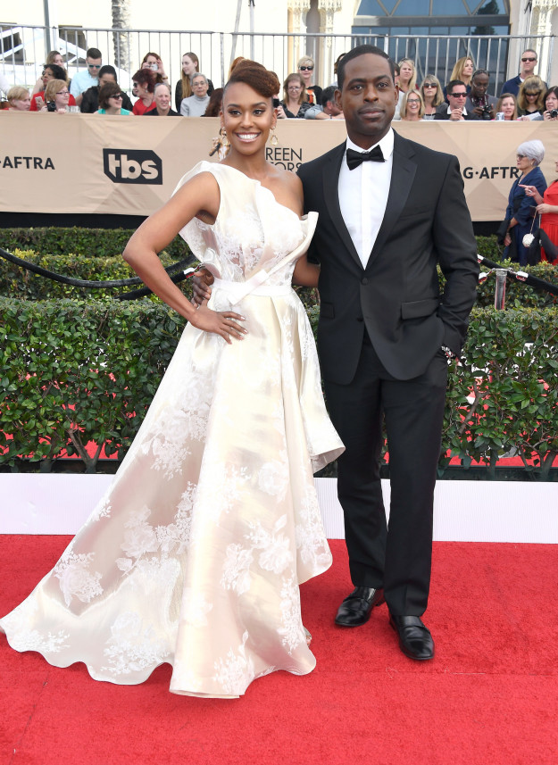 Ryan Michelle Bathe and Sterling K. Brown hairstyles 2017 SAG Awards
