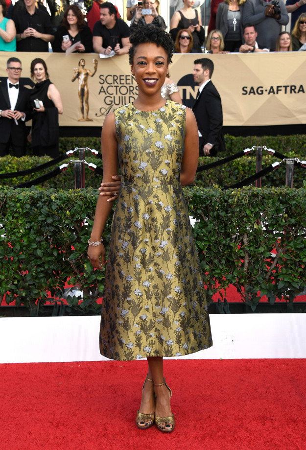 Samira Wiley hairstyles 2017 SAG Awards