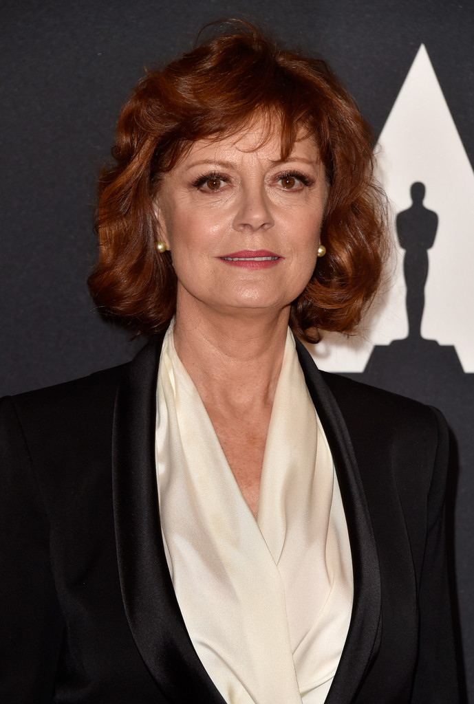 Susan Sarandon curly bob hairstyles 2017