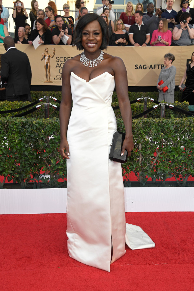 Viola Davis hairstyles 2017 SAG Awards