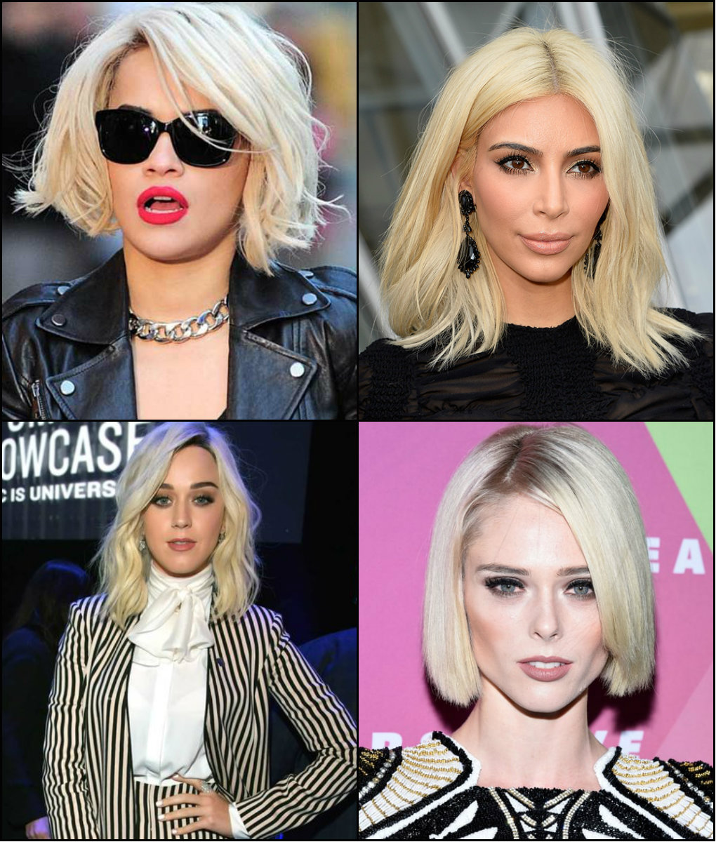 best celebrity Platinum Blonde Bob Hairstyles 2017