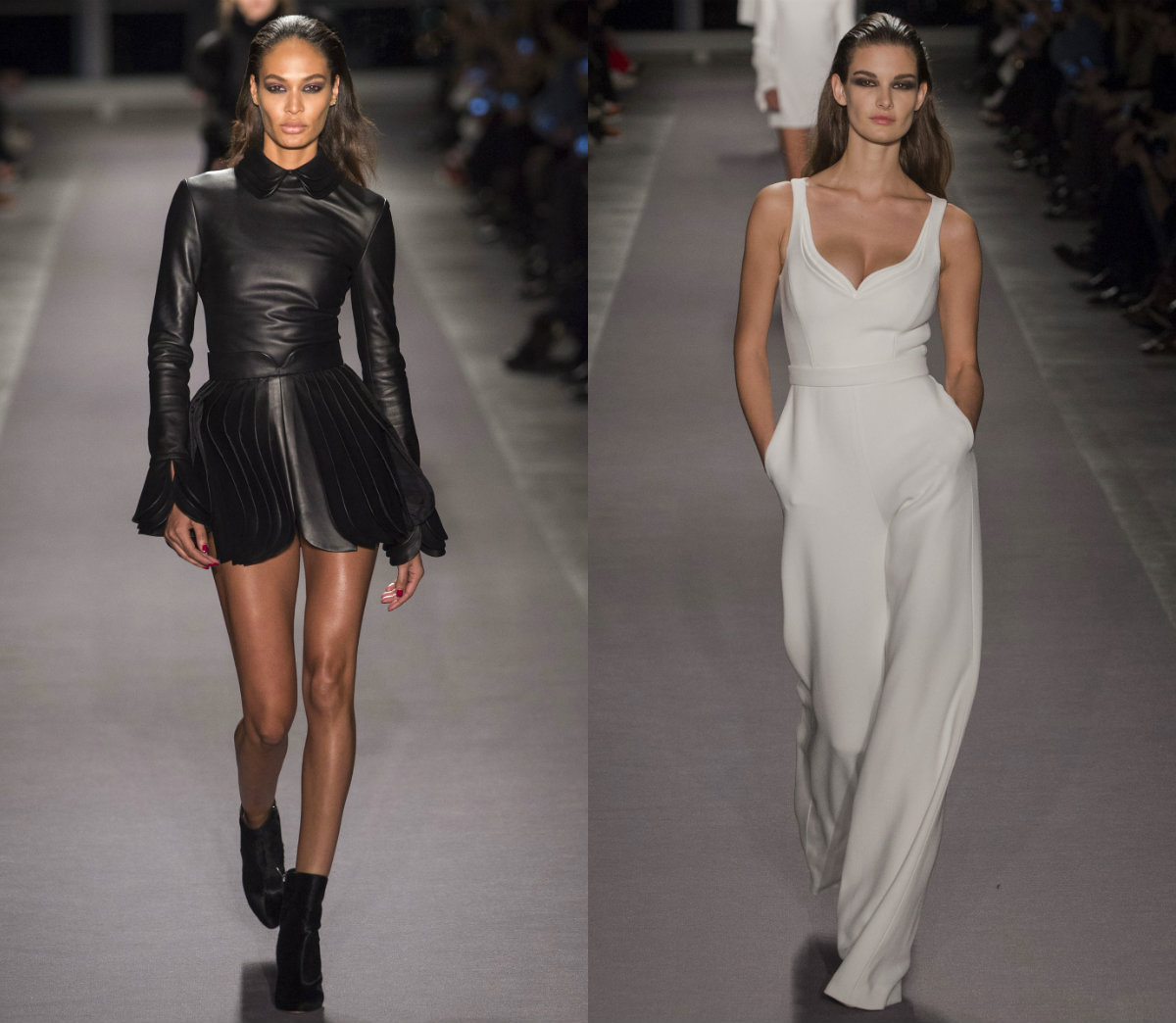 BRANDON MAXWELL slicked back hair trends 2017 fall