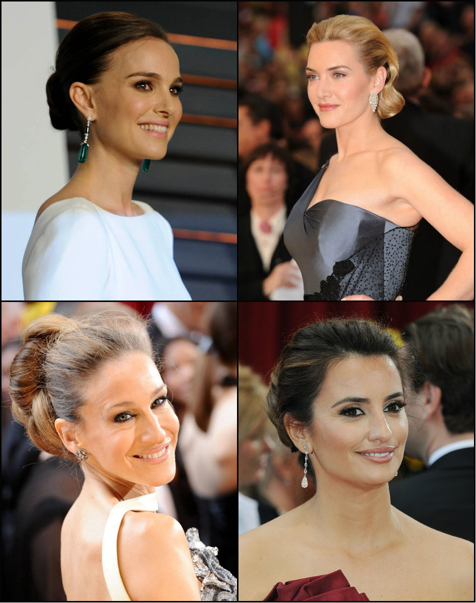 best Oscars updo hairstyles