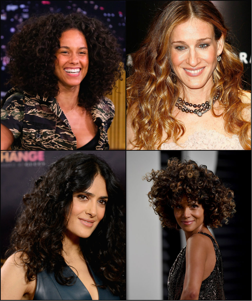 best celebrity curly hairstyles 2017