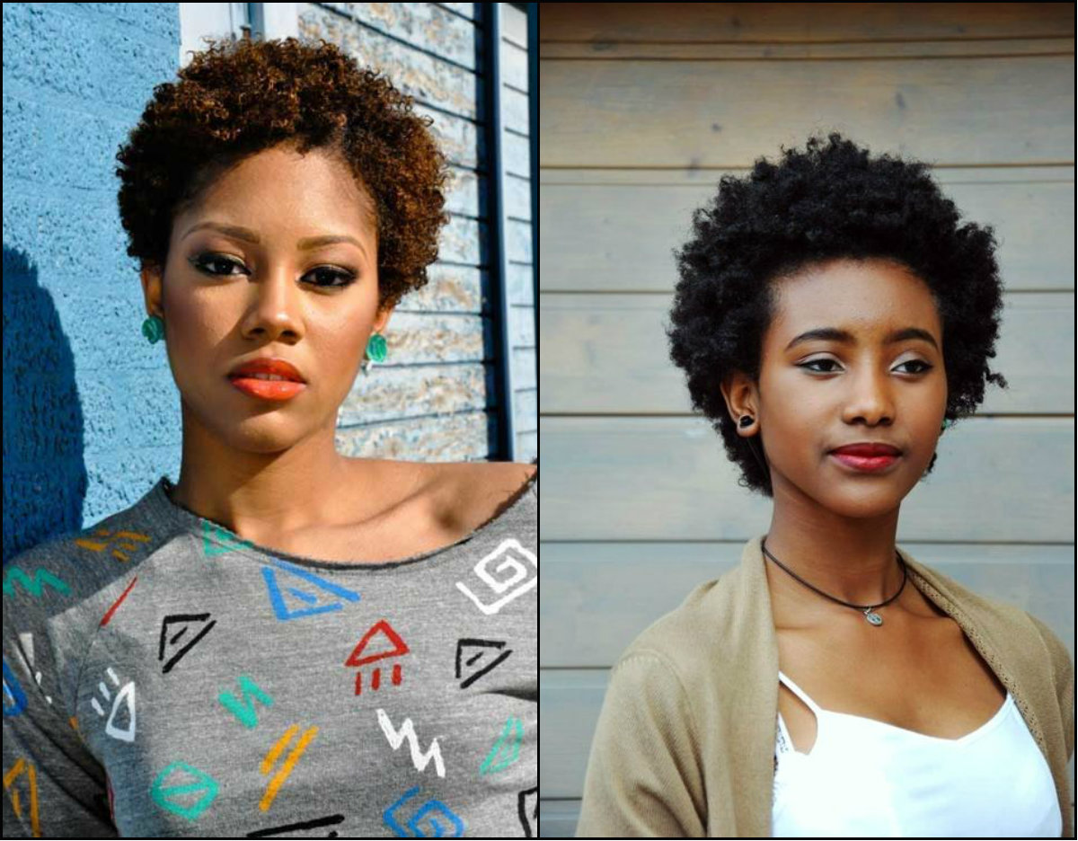 cute short afro hairstyles