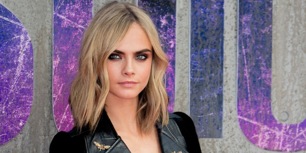 Cara Delevingne soft blonde hair color trends 2017 Fall-Winter 2018