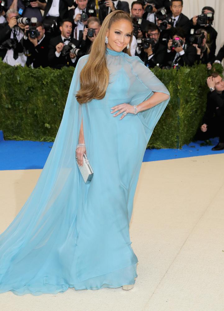 Jennifer Lopez ponytail hairstyles 2017 Met Gala