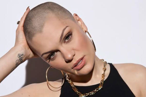 Jessie J shaved head hairstyles 2018