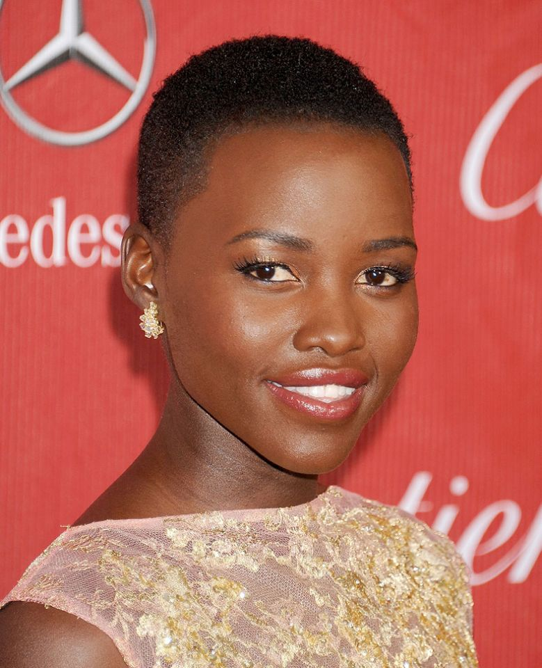 LUPITA NYONG'O buzz cut hairstyles 2018