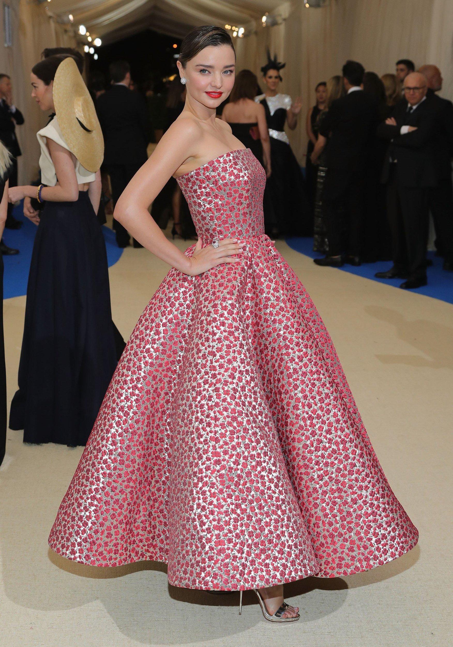Miranda Kerr updo hairstyles 2017 Met Gala