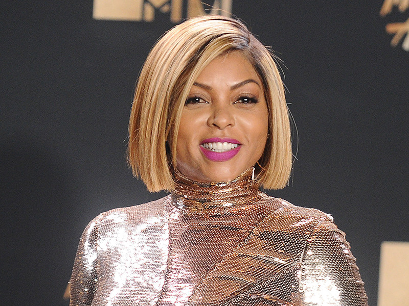 Taraji P. Henson new blonde bob hairstyles 2017 at MTV Movie Awards