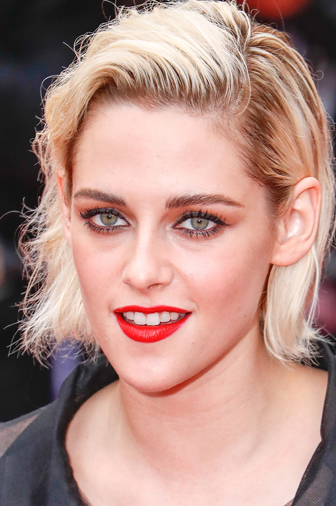 Kristen Stewart rooty platinum blonde hair colors