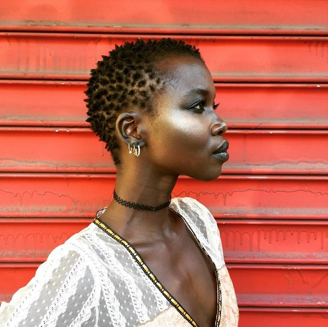 Nykhor Paul extra short afro black women hairstyles 2018