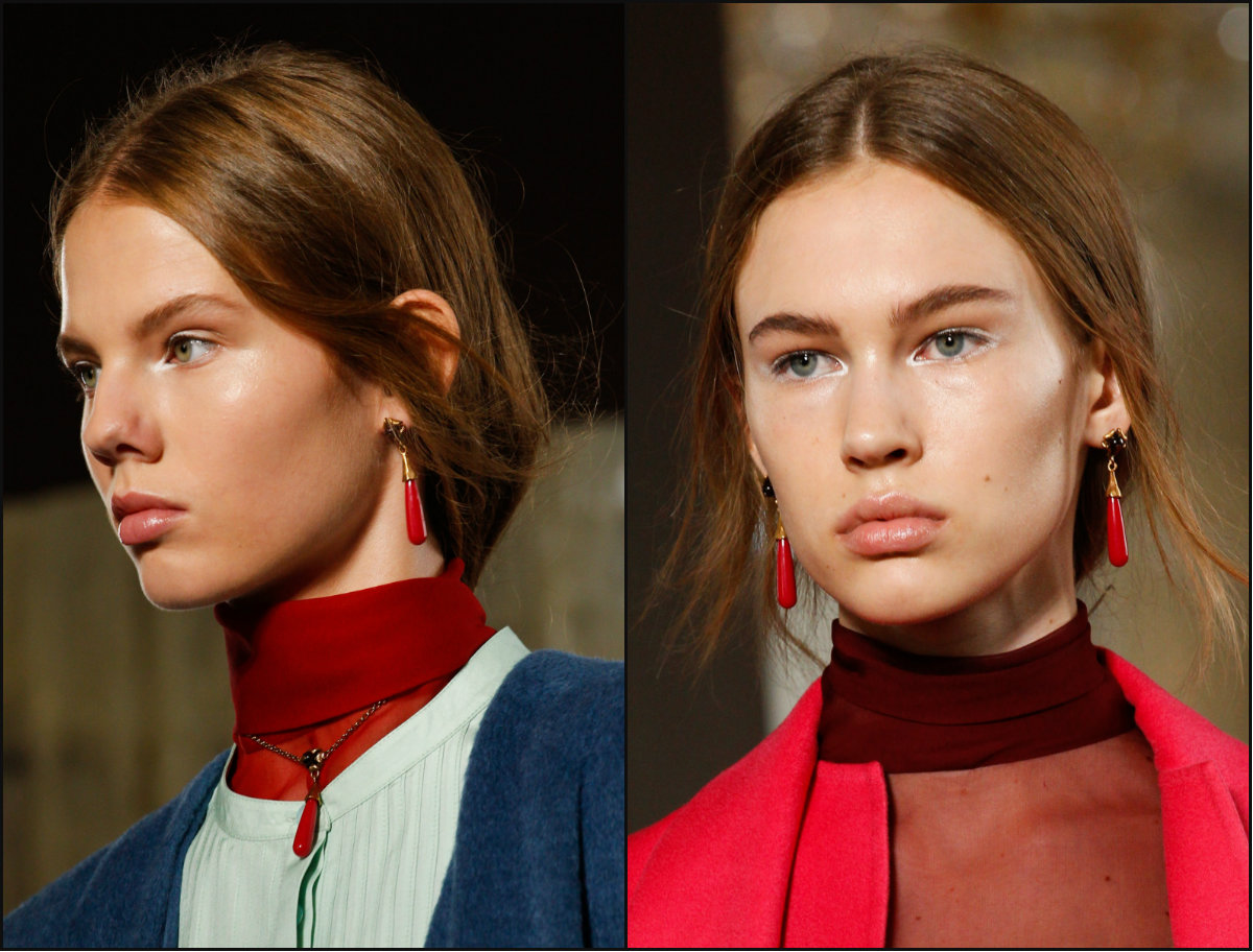 Valentino middle part hairstyles 2017 fall
