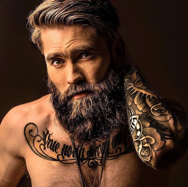 brutal male looks with shrt hair and beards 2018