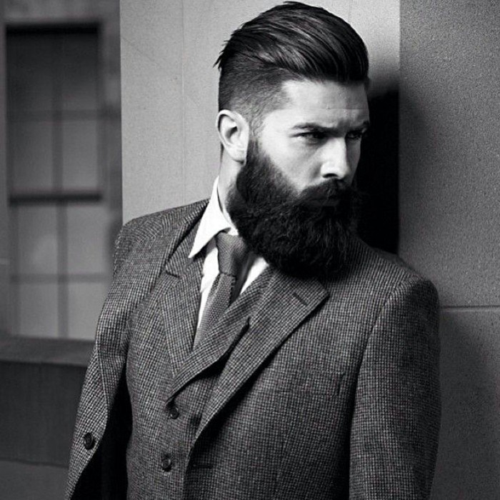 elegant mens hairstyles with beards 2018
