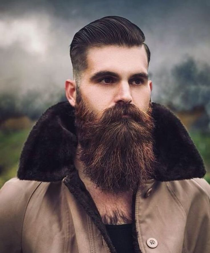 epic long beards and slicked hairstyles for men 2018
