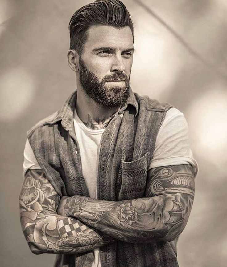 sexy male haircuts with beards 2018