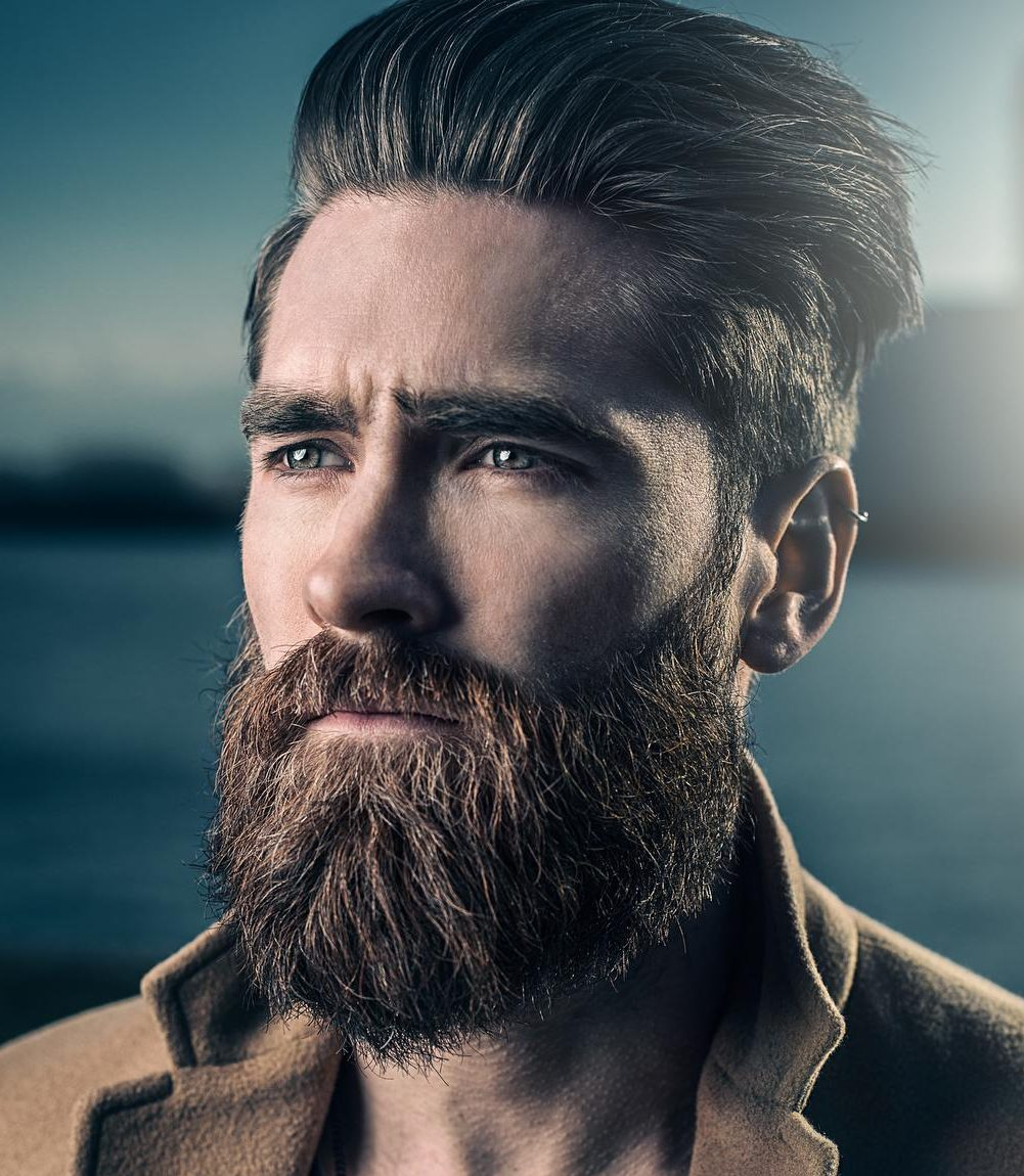 smart looks for men with short hair and beards