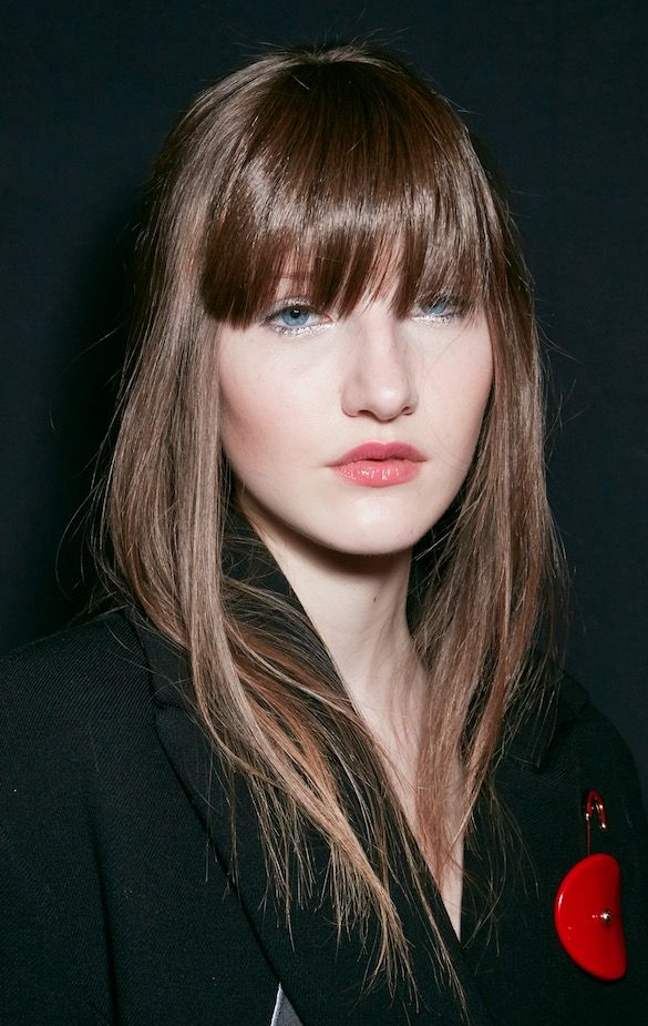 Armani bangs hair trends 20148 spring summer